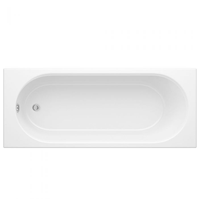 Milano - 1700mm x 750mm Round Single Ended Standard Bath