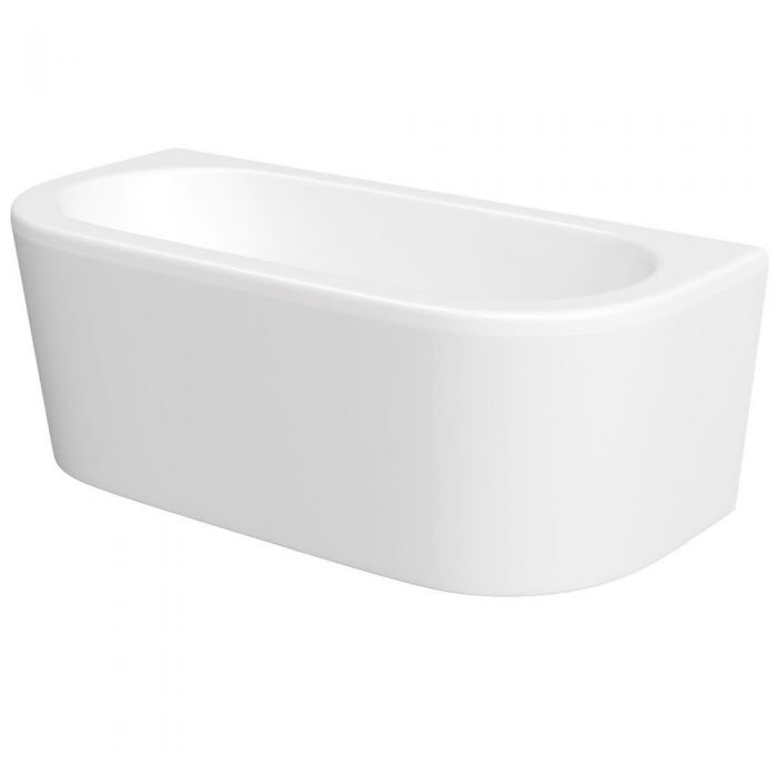 Milano - 1700 x 800mm Curved D Shape Bath and Panel