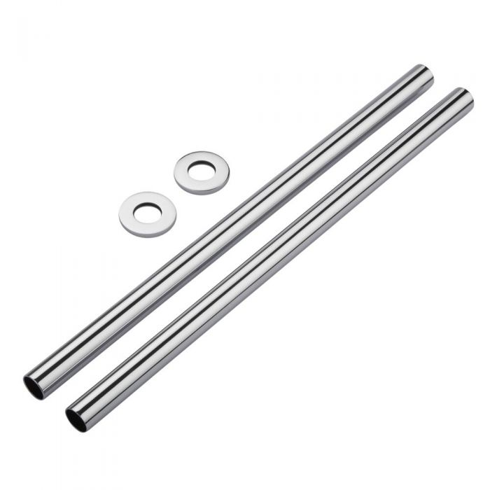 Milano - Chrome Pipes and Shrouds 300mm (Pair)
