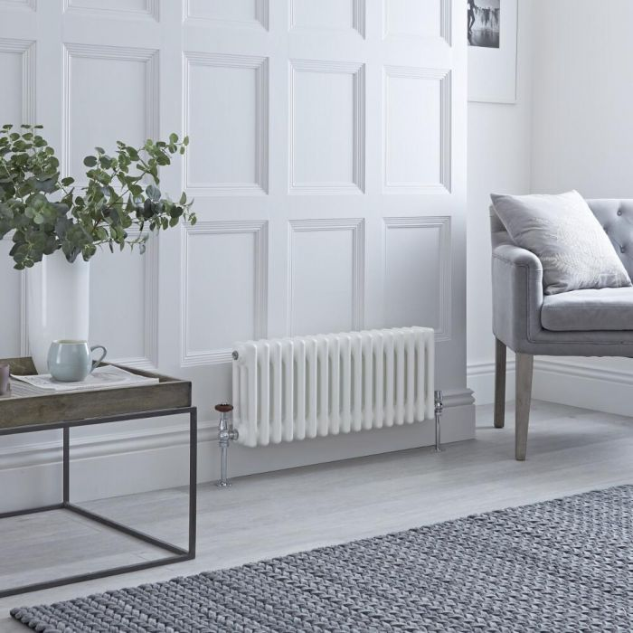 Milano Windsor - White Traditional Horizontal Column Radiator - 300mm x 785mm (Triple Column)