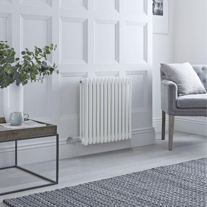 Milano Windsor - Traditional White 3 Column Electric Radiator 600mm x 608mm (Horizontal)