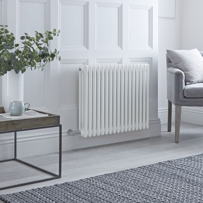 Milano Windsor - Traditional White 3 Column Electric Radiator 600mm x 788mm (Horizontal)