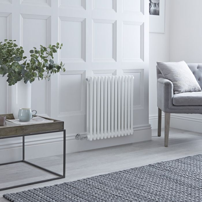 Milano Windsor - Traditional White 2 Column Electric Radiator 600mm x 608mm (Horizontal)