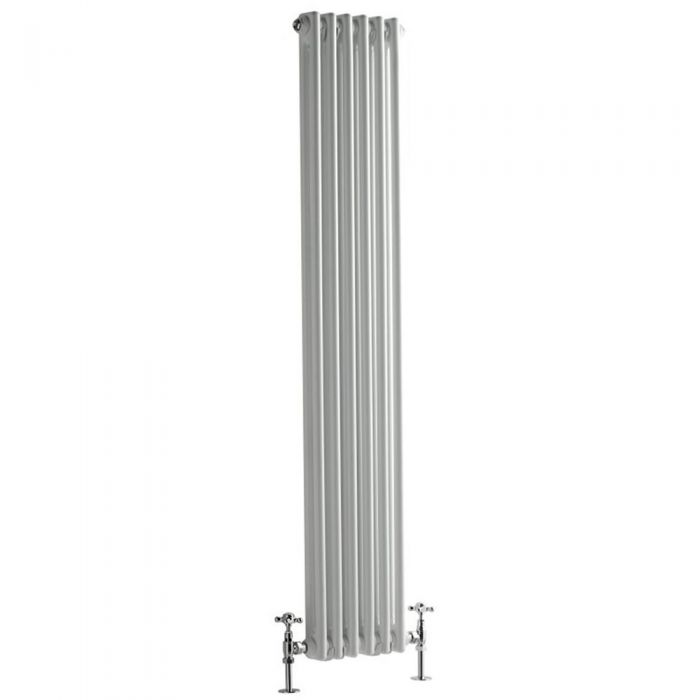 Milano Windsor - Traditional White Vertical Column Radiator - 1500mm x 293mm (Double Column)