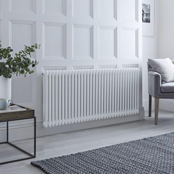 Milano Windsor - Traditional White 2 Column Electric Radiator 600mm x 1508mm (Horizontal)