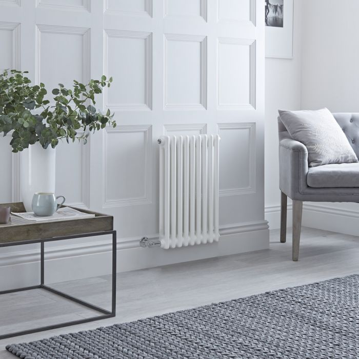 Milano Windsor - Traditional White 2 Column Electric Radiator 600mm x 405mm (Horizontal)