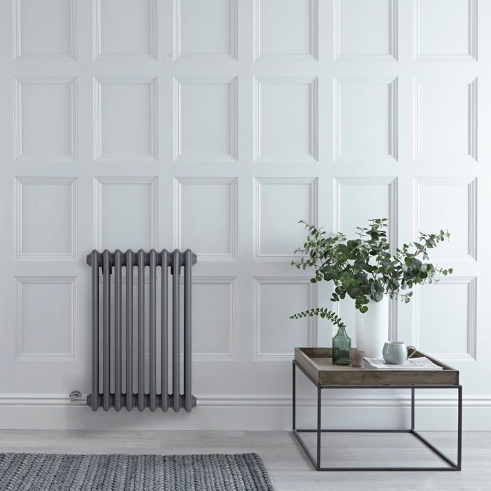 Milano Windsor - Traditional 3 Column Electric Radiator - Cast Iron Style - Anthracite 600mm x 405mm