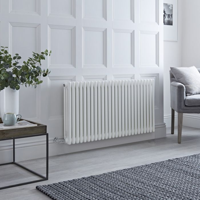 Milano Windsor - Traditional White 3 Column Electric Radiator 600mm x 1160mm (Horizontal)