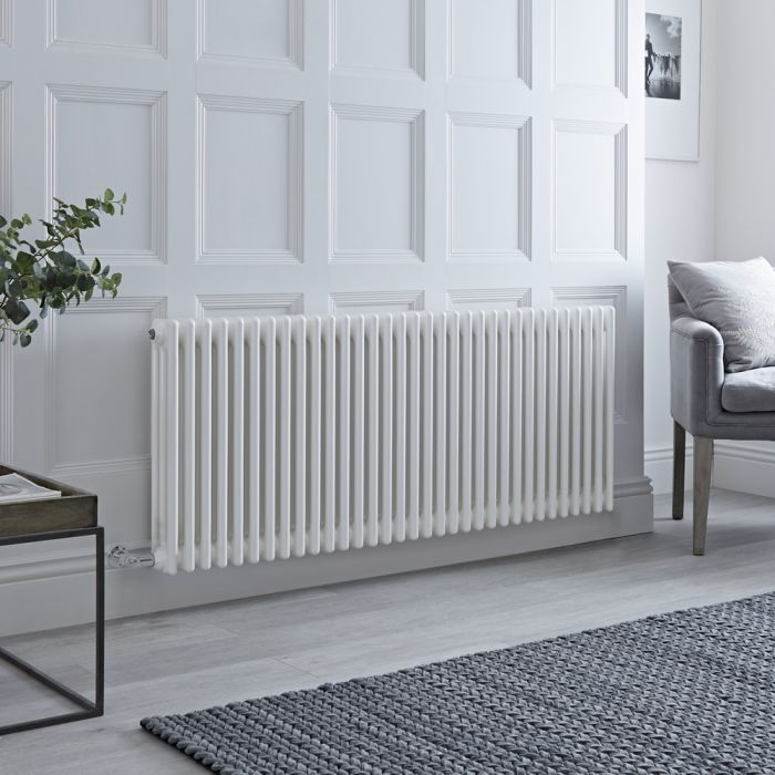 Milano Windsor - Traditional White 3 Column Electric Radiator 600mm x 1470mm (Horizontal)