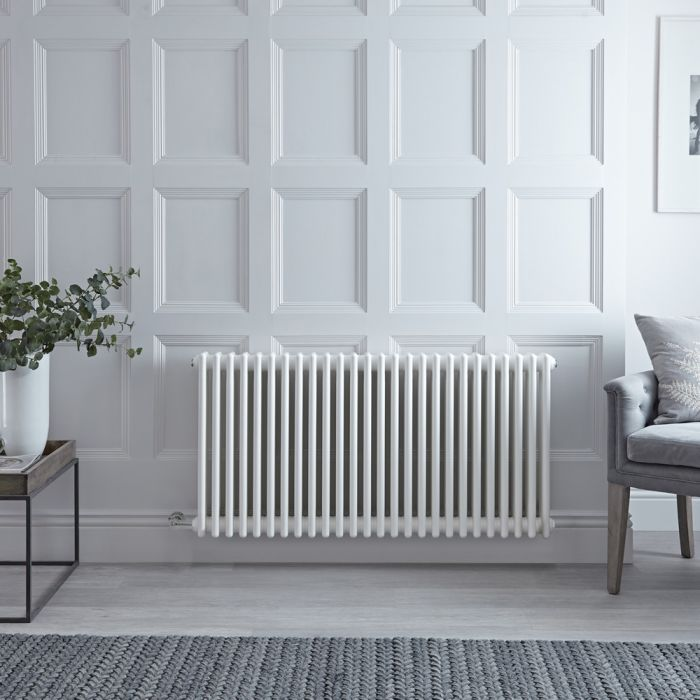 Milano Windsor - Traditional White 4 Column Electric Radiator 600mm x 1170mm (Horizontal)