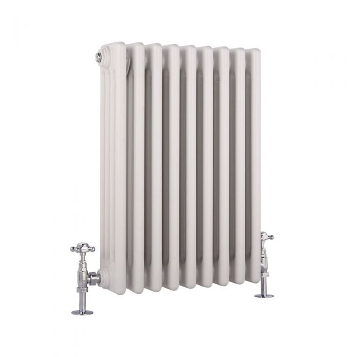 Milano Windsor - White Traditional Horizontal Column Radiator - 600mm x 425mm (Four Column)