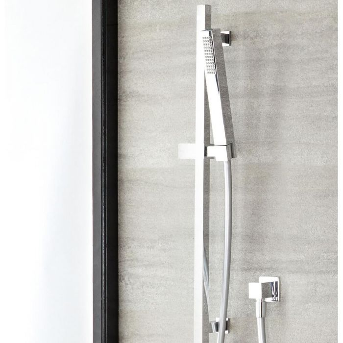 Milano Select - Modern Square Wall Mounted Hand Shower with Outlet Elbow - Chrome