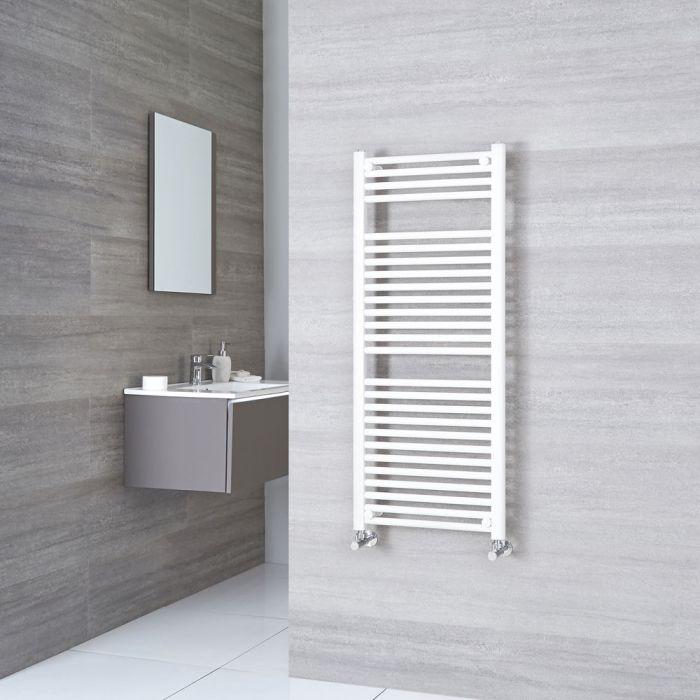 Sterling - White Flat Heated Towel Rail - 1200mm x 500mm