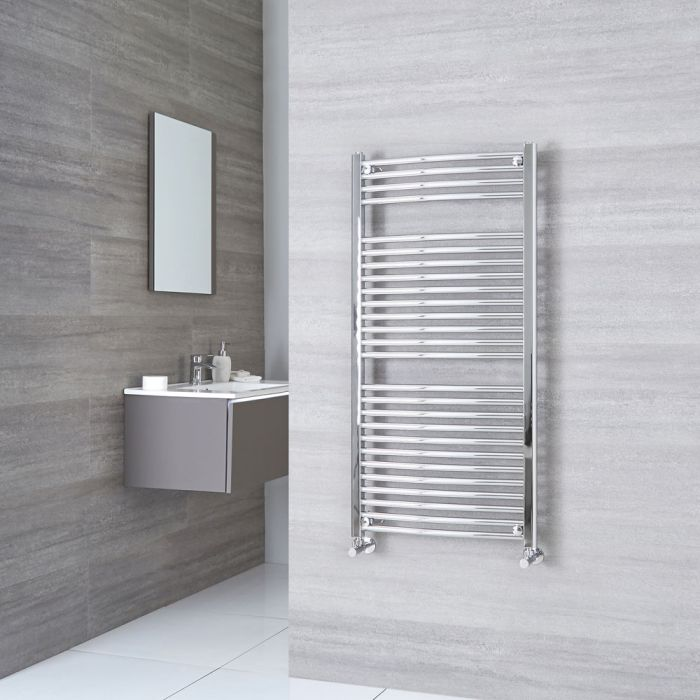 Sterling - Chrome Curved Heated Towel Rail - 1200mm x 600mm