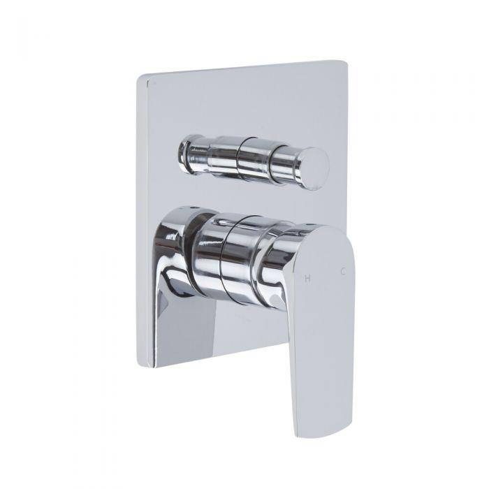 Milano Hunston - Modern Manual Shower Valve - Two Outlets - Chrome