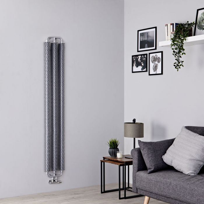 Terma Ribbon - Silver Vertical Designer Radiator - 1720mm x 290mm