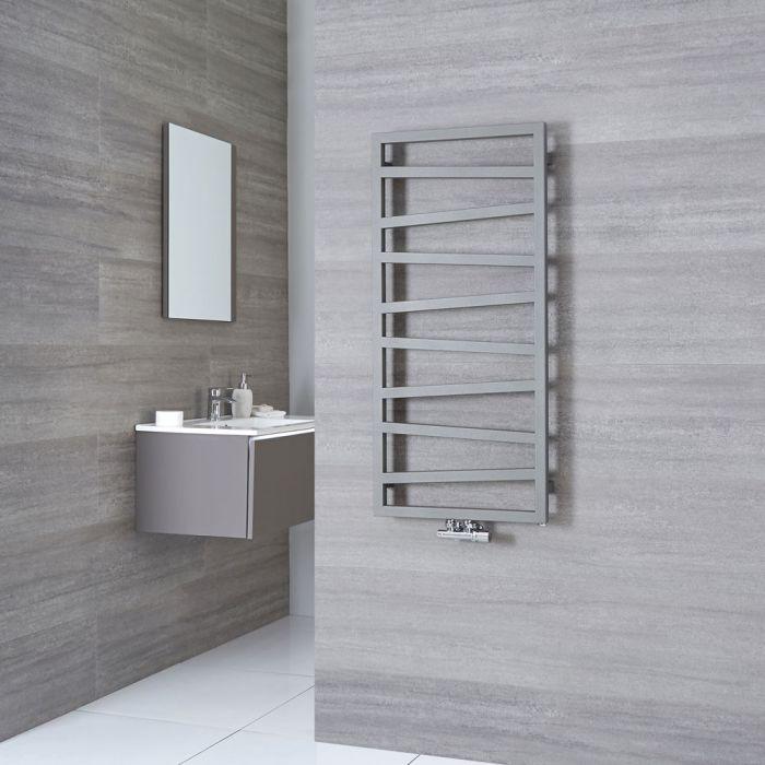 Terma ZigZag - Silver Vertical Heated Towel Rail - 1070mm x 500mm