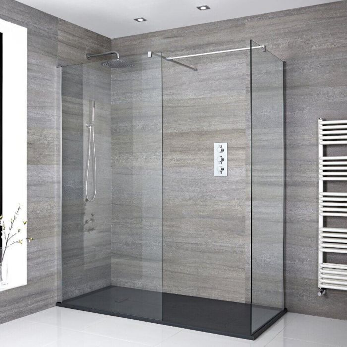 Milano Portland - Corner Walk-In Shower Enclosure with Slate Tray - Choice of Sizes