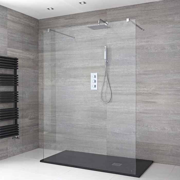 Milano Portland - Walk-In Shower Enclosure with Slate Tray - Choice of Sizes