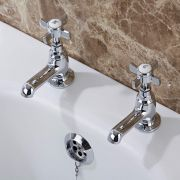Milano Victoria Pillar Bath Taps