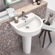 Milano - 420mm Basin with Full Pedestal - 1 Tap-Hole