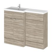 Hudson Reed 1100mm Driftwood WC Combination Unit Left Hand