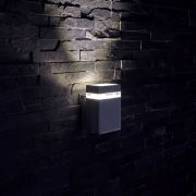 Biard Architect IP54 Square Up or Down Outdoor Wall Light - Black