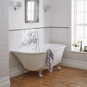 Milano 1550mm x 750mm Back To Wall Freestanding Bath With Choice of Feet