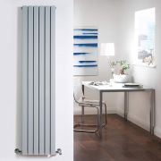 Milano Capri - Silver Flat Panel Vertical Designer Radiator - 1600mm x 354mm (Double Panel)