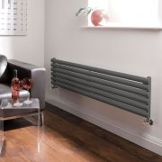 Milano Aruba - Luxury Anthracite Horizontal Designer Radiator 354mm x 1780mm