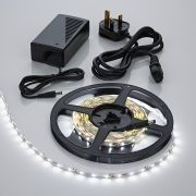Biard LED IP20 5m 3528 Plug & Play Strip Light Kit - Cool White