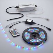Biard LED IP65 5m 3528 Plug & Play Strip Light Kit - RGB