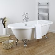 Milano 1750mm Double Ended Flat Top Bath with Choice of Feet