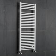 Sterling - White Flat Heated Towel Rail - 1200mm x 500mm
