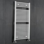 Sterling - White Flat Heated Towel Rail - 1200mm x 600mm