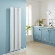Milano Aruba - Luxury White Vertical Designer Radiator 1600mm x 472mm