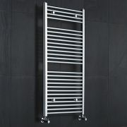 Sterling Premium Chrome Flat Heated Towel Rail 1200 x 600