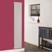 Milano Cayos - Luxury White Vertical Designer Radiator Sideways Panels 1780mm x 342mm