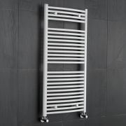 Sterling Premium White Curved Heated Towel Rail 1200mm x 600mm