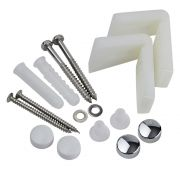 Milano Angled Floor Toilet Pan / Bidet & Semi Pedestal Fixing Kit