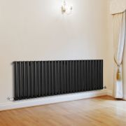 Milano Aruba - Luxury Black Horizontal Designer Radiator 635mm x 1647mm