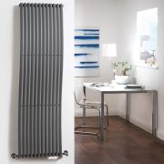Milano Wave - Anthracite Vertical Designer Radiator - 1600mm x 460mm