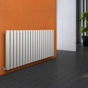 Milano Aruba - White Horizontal Designer Radiator - 635mm x 1180mm (Double Panel)