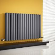 Milano Aruba - Anthracite Horizontal Designer Radiator - 635mm x 1000mm (Double Panel)