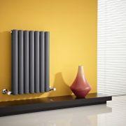 Milano Aruba - Anthracite Horizontal Designer Radiator - 635mm x 415mm (Double Panel)