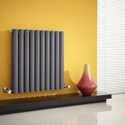 Milano Aruba - Anthracite Horizontal Designer Radiator - 635mm x 595mm (Double Panel)