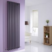Milano Viti - Anthracite Vertical Diamond Panel Designer Radiator - 1780mm x 560mm