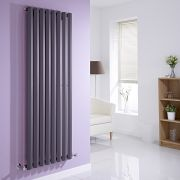 Milano Viti - Anthracite Vertical Diamond Panel Designer Radiator 1600mm x 560mm