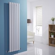 Milano Viti - White Vertical Diamond Panel Designer Radiator - 1600mm x 420mm