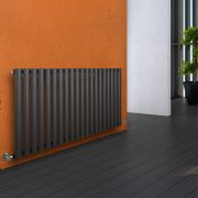 Milano Aruba - Luxury Anthracite Horizontal Designer Radiator 635mm x 1180mm